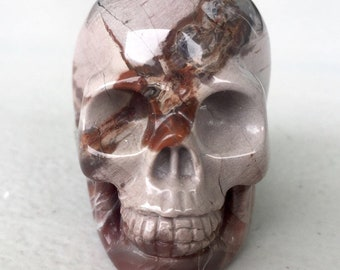 Petrified wood skull 2 inches item1228