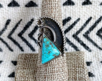 Necklace Sterling Silver Twist Berry Filigree with Fire blue opal Native American Navajo G Booque