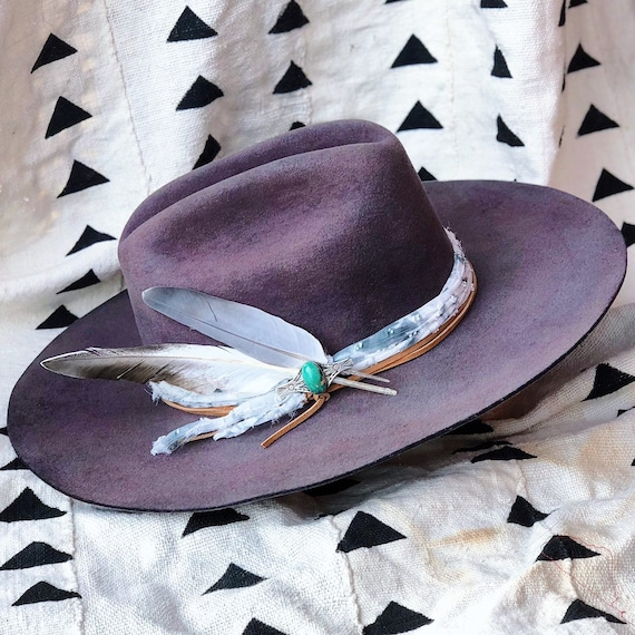 88eeb97d1c293 Vintage MHT Westerners hand-dyed and hand-reshaped 3X plum