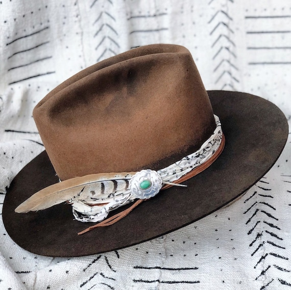 b56909fb35444 Vintage Laredo hand-dyed and hand-reshaped 100X cowboy hat w