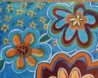 My Garden,  an original acrylic painting, a delightful bouquet