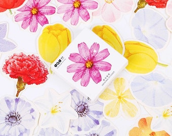 FREE SHIPPING Floral Stickers, Flowers, Kawaii Stickers