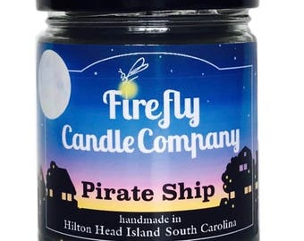 Pirate Ship Soy Candle- Pirates of the Caribbean- Pirate Candle- book candle- movie candle 8oz