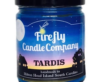 TARDIS Soy Candle- Dr. Who- Book lovers Candles- Movie Lovers Candles
