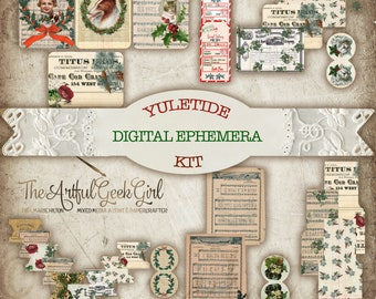Yuletide Digital Ephemera Kit