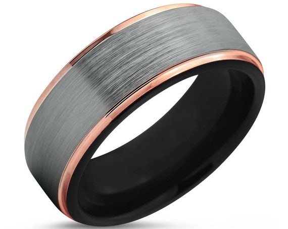 Unisex Wedding Band | Men & Women Promise Ring | Man and Woman Wedding Ring | Tungsten Band Rings | Multiple MM available