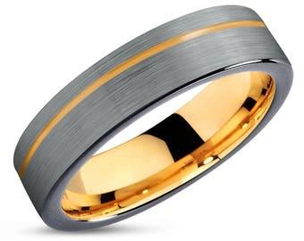 Black Gold Ring Etsy