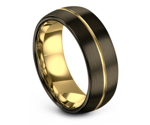 Matching Wedding Bands,Tungsten Ring Band,Brushed Ring Band,Center Line Free Engraving,Minimalist Wedding Ring,Promise Ring,Rings for Women