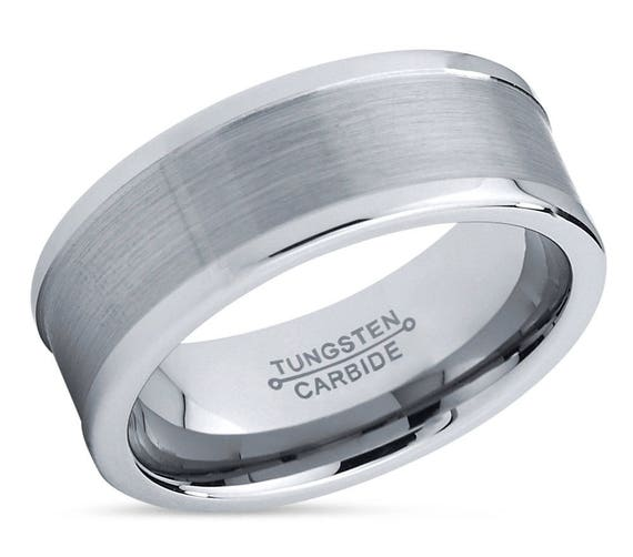 Brushed Men's Wedding Band,Tungsten Wedding Band,Tungsten Wedding Ring,Comfort,Tungsten,Engagement Band,Anniversary Ring,8mm Tungsten 6mm