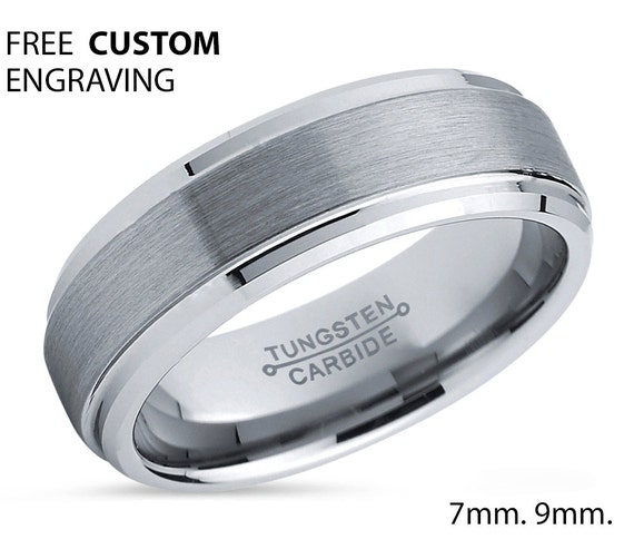 Mens Wedding Band, Tungsten Ring 6mm, Wedding Ring, Engagement Ring, Promise Ring, Gifts for Her, Gifts for Him, Personalized Ring