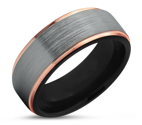 Tungsten Wedding Band Ring | Perfect for Valentines Day Gift for Boyfriend Girlfriend Best Friend | Promise Ring