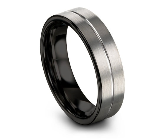Free Engraving Band, Silver Tungsten Ring, Tungsten Wedding Band Ring, Tungsten Carbide 4mm, Sister Gift Ideas, Anniversary Matching Ring