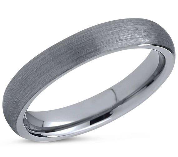 Silver Tungsten Ring, Mens Wedding Band, Wedding Ring 4mm, Engagement Ring, Promise Ring, Rings for Men, Rings for Women, Personalized Ring