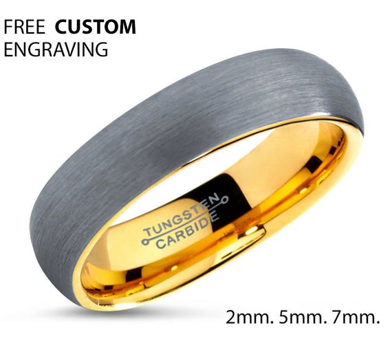 Personalized Gift | Wedding Band for Men & Women | Tungsten Promise Ring
