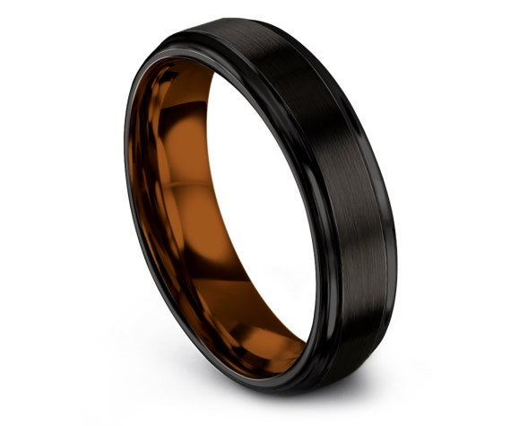 Men's Black Wedding Band | Wedding Rings Set | Copper Tungsten Engagement Ring | Ring For Women | Personalized Ring | All Size Available