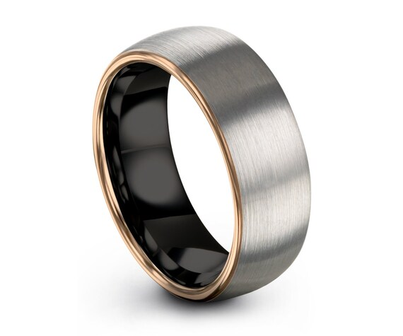 Mens Wedding Band Silver, Tungsten Ring Gold 18K, Wedding Ring, Engagement Ring, Promise Ring, Rings for Men, Rings for Women, Gold Ring