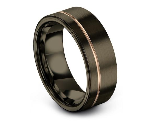 Luxury Tungsten Wedding Band, Gunmetal Wedding Ring, Engagement Ring, Rings for Men, Handmade  Tungsten Ring, Infinity Ring, Comfort Fit