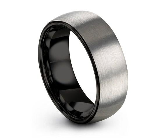 Brushed Silver Tungsten Wedding Band | Men & Women Wedding Ring | Promise Ring | Free Personalized Engraving