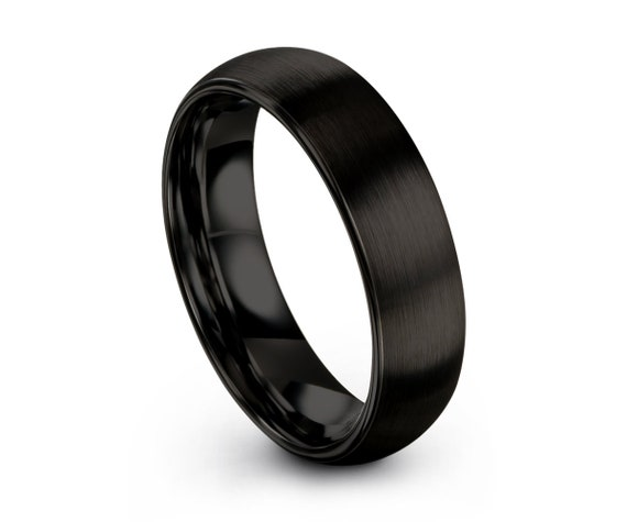 Mens Wedding Band, Tungsten Ring 2mm 4mm 6mm 8mm Black, Wedding Ring, Engagement Ring, Promise Ring, Rings for Men, Rings for Women