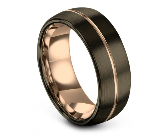 Classic Band | Gunmetal Tungsten Band | Tungsten Ring Women | Tungsten Carbide Ring Men | Tungsten Engagement Ring Women | Infinity Ring