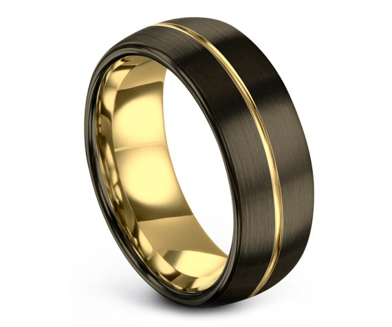 Domed Tungsten Wedding Band | Tungsten Carbide Wedding | Mens Wedding Band | Personalized Engraving Ring | Adjustable Ring | Rings for Men