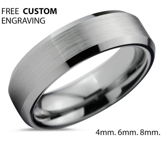 Tungsten Wedding Band,Tungsten Wedding Bands,Tungsten Ring,Brushed Polish,Comfort Fit,Anniversary Band,Engagement Band,His,Hers,6mm Ring Set
