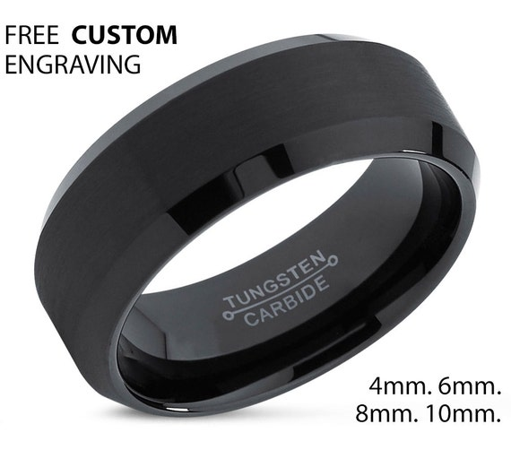 Personalized Men & Women Tungsten Wedding Band | Promise Ring for him and her | Free Custom Engraving