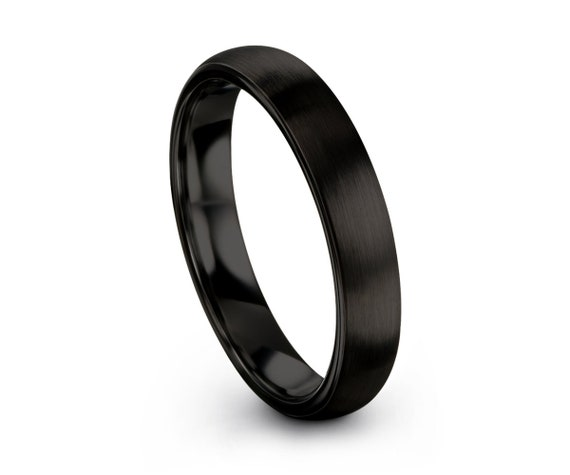 Ladies Wedding Band, Wedding Ring, Tungsten Ring Black 2mm, Engagement Ring, Promise Ring, Minimalist Ring, Rings for Women, Personalized