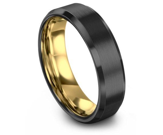 Gold Wedding Band, Brushed Silver Tungsten Ring, Gunmetal, Engagement, Rings for Men, Rings for Women, Anniversary, Wedding, Promise Ring