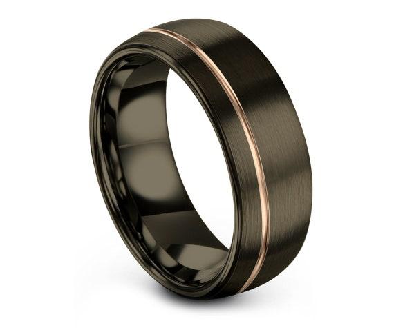 Tungsten Ring for Women | Gunmetal Domed Tungsten Ring | Adjustable Ring | Wedding Band Tungsten | Engagement Gift Idea | 6mm | 8mm | 10mm