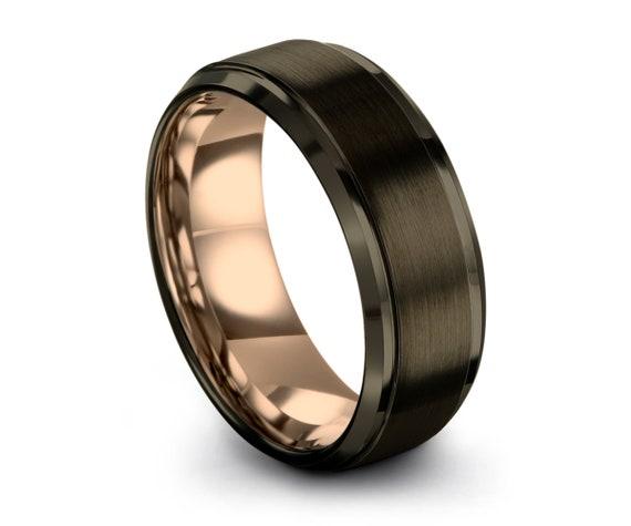 Gunmetal Tungsten Ring, Mens Wedding Band, Wedding Ring, Engagement Ring, Promise Ring, Rings for Men, Rings for Women, Black Ring