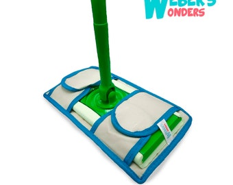 Set Of 2 Microfiber Weber's Wonders Mop Pads - Washable Swiffer Cover - Reusable Durable - Fits Swiffer Sweeper Pads