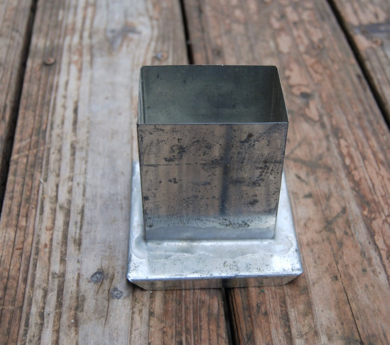 rectangle soldered mold Metal rectangle candle mold metal mold candle making supplies metal rectangle mold pourette metal candle mold