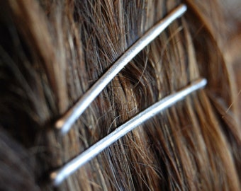 Silver bobby pins, colored bobby pins, decorative bobby pins, metallic bridal bobby pins, silver bridal accessories, decorative hair pins