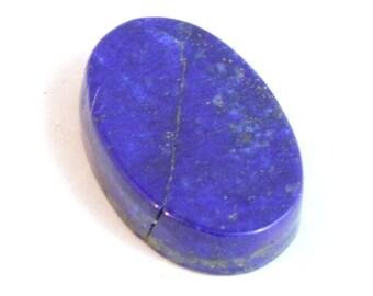 Blue Dumortierite Designer Cabochon Long Oval Shape 37.7 x 29.1 x 6.2 mm Light And Dark Mottled Blue Colors #1629DMT