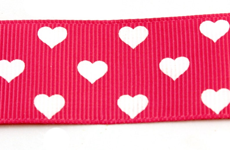 Purple Trim White Heart Gros Grain Ribbon By the Foot A Wide Red Fabric Trim with Printed Pattern A Green Decoration for Making Clothes