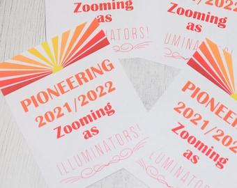 Pioneering as Illuminators - JW Pioneer School gifts - JW pioneer school - JW Pioneer gifts - Jw Downloadable - Printable - Jw Printable