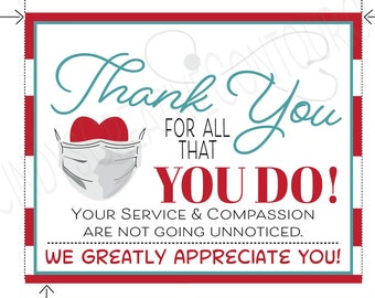 Printable Thank You Workers Card, Encouraging Printable, E card,  Printable Thank you, Thank you healthcare workers, Doctors, thank nurses