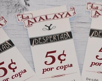Spanish Set of 3 Bookmarks -  1930 Replica Bookmark - Jw pioneer gifts - Jw Pioneer School gifts - Jw pioneer school - Jw Pioneer gifts