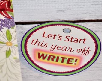 Tag set of 6 - JW Pioneer School gifts - JW pioneer school - JW Pioneer gifts - Let's Start This Year Off Write - Jw Tags