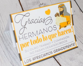 Spanish Thank You Brothers Card, Encouraging Card,  Jw gift, Jw gift card, Jw card, jw scripture, gift card, personalized greeting card