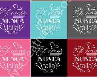Spanish Set of 12 Love Never Fails - Jw tag -  Jw Label - Jw Pioneer School gifts - Jw pioneer school - Jw Pioneer gifts - Jw kids meeting