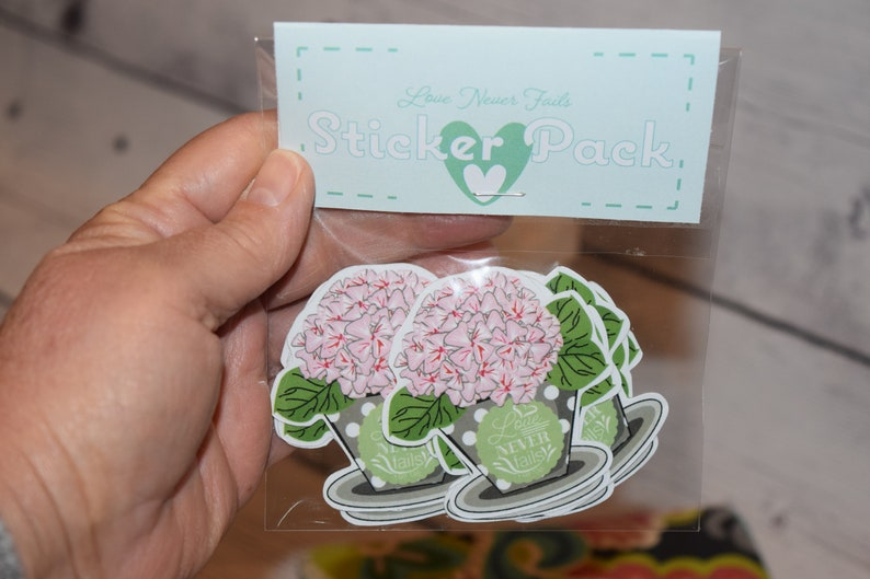 Set of 9 Stickers Love Never Fails Jw gift Pioneer gift image 0