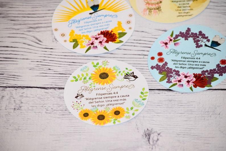 Alégrense Siempre Filipenses 4:4 Set of 6 stickers JW 6 Laminated Sunfl