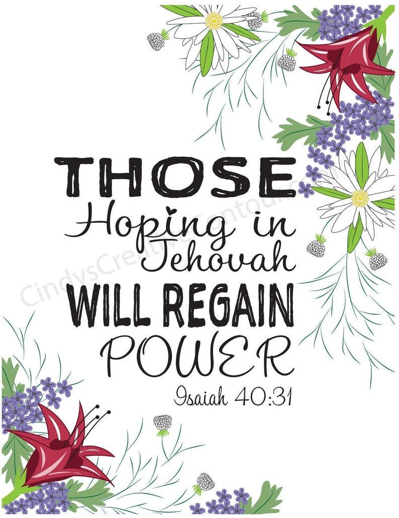 Hope in Jehovah  JW Pioneer School gifts  JW pioneer school image 0