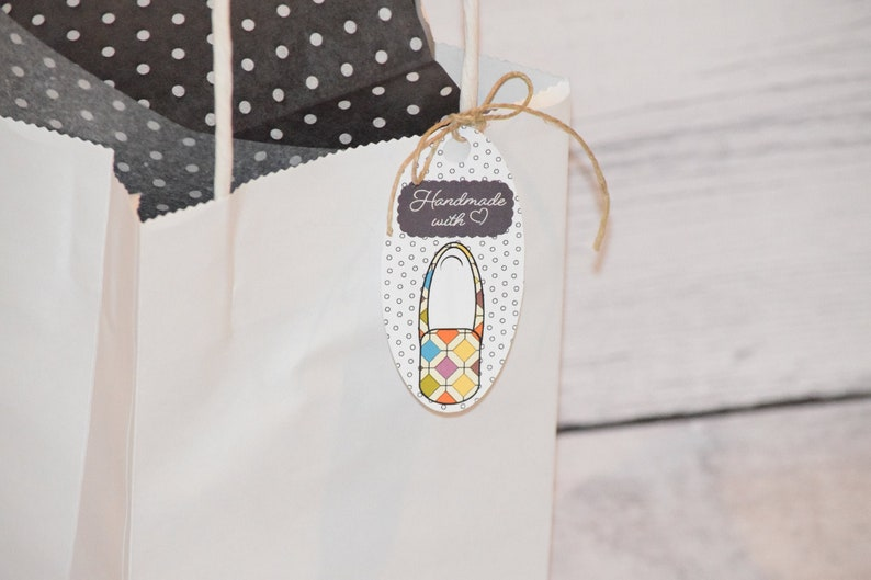 Set of 12.Handmade with love tags.Tags for handmade items.Tags image 0
