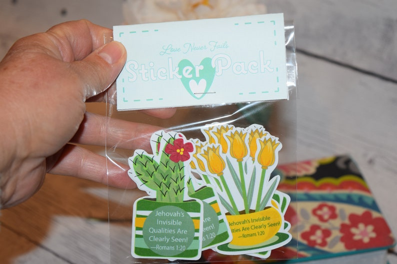 Set of 9 Stickers Invisible Qualities Jw gift Pioneer gift image 0