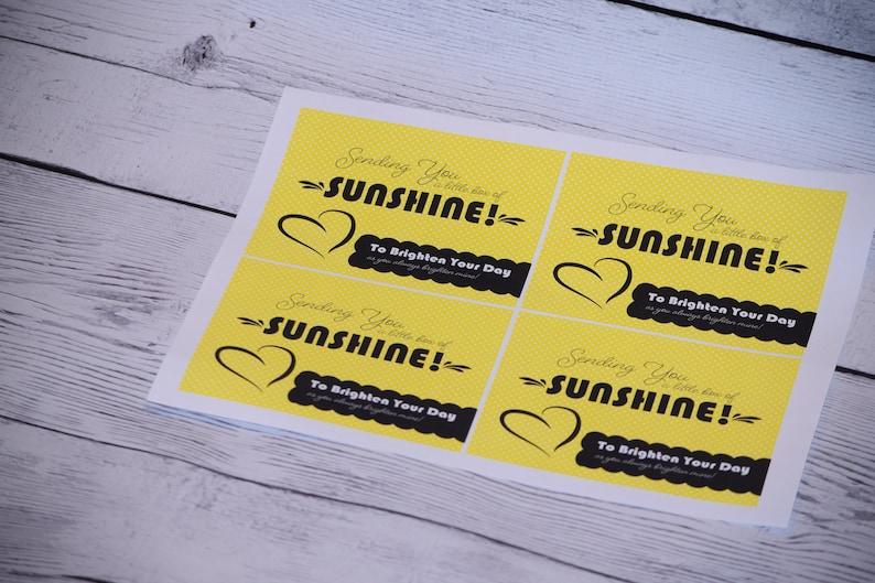 4 Sunshine box printableBrighten Your DayBrighten Your Day image 0
