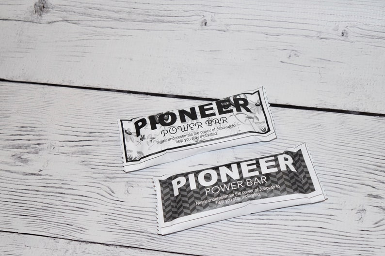 Jw Label Black and White  Pioneer Power Bar  Jw Pioneer image 0