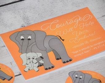 Courage will help us endure - JW Pioneer School gifts - JW pioneer school - JW Pioneer gifts - Jw cards - Scripture cards